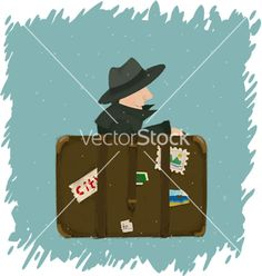 A man going to travel vector by ErasmaMundus on VectorStock®