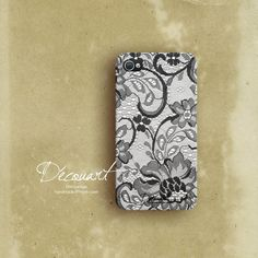 Lace iPhone 4 case iPhone 4s case lace pattern S134 by Decouart
