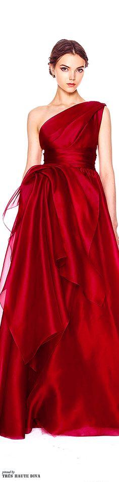 The perfect red gown.  Marchesa Pre-Fall 2014 via @bellezadevenus. #Marchesa #PreFall2014