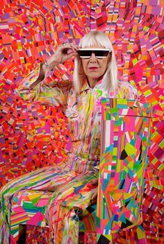 Marta Minujin en su estudio. Foto: Martin Lucesole
