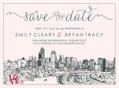 our gorgeous Philadelphia Save the Date!