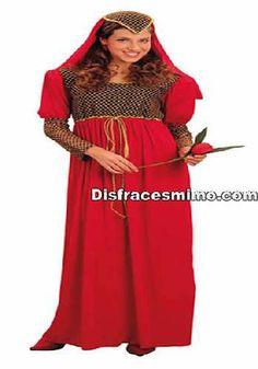 Tu mejor disfraz de julieta adulto para mujer.Conviértete en una elegante Dama o Doncella del Medievo con este precioso Disfraz Medieval para mujer.Deslumbra a todos en Fiestas de Disfraces Medievales o en Carnaval con este magnífico y favorecedor traje de época.