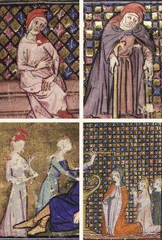 Roman de La Rose manuscript uit 1348.