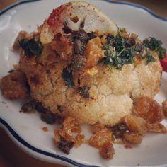 Roasted Cauliflower with Crispy Chicken Skin Chicken Skin, Crispy Chicken, Roasted Cauliflower, Montreal, Vegetables, Travel, Food, Chicken Flatbread, Viajes
