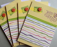 Bee Happy Note Cards by CraftyCountryBumpkin on Etsy, $4.00