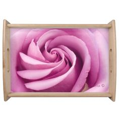 Unique Pink Rose Serving Tray http://www.zazzle.com/unique_pink_rose_serving_tray-256169937369393336?rf=238440627141663453