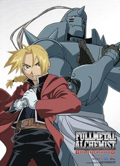 Full Metal Alchemist Brotherhood - The Elric Brothers Al and Ed - Lawrence's namesake for middle name