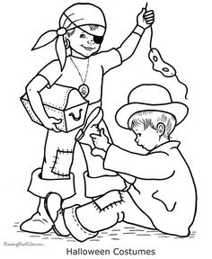 fun scary halloween coloring pages costumes 2012
