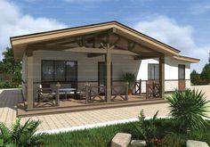Проект одноэтажного двухкомнатного дома 82,32 кв.м. из SIP панелей