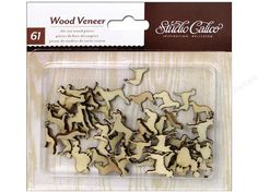 Dogs Here & There Laser-Cut Wood Veneer Shapes (61pcs) Wood Embellishment • Decorating • Scrapbooking • Card Making • Crafts • DIY (331300)