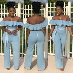 Browse all products from Shawtyfwe Apparel. Thick Girl Fashion, New Look Fashion, Curvy Women Fashion, Suit Fashion, Fashion Outfits, Denim Party, Cute Summer Outfits, Summer Clothes, Latest Outfits