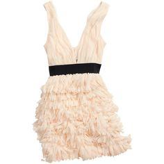 H&M Dress (1.425 RUB) ❤ liked on Polyvore featuring dresses, vestidos, vestiti, short dresses, women, zipper dress, pink mini dress, low cut cocktail dresses, pink cocktail dress and mini dress