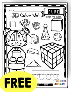 KINDERGARTEN MATH - free Addition and subtraction - counting and cardinality - teen numbers and place value - measurement and data - graphing - common core aligned free math centers and activities… Shapes Worksheet Kindergarten, Kindergarten Math Worksheets, In Kindergarten, Math Activities, 3d Shapes Worksheets, Free Math Games, Math Graphic Organizers, Math Courses, Math Centers