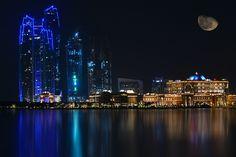 Abu Dhabi skyline by night