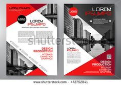 Find Business Brochure Flyer Design Template stock images in HD and millions of other royalty-free stock photos, illustrations and vectors in the Shutterstock collection. Brochure Design Inspiration, Layout Inspiration, Corporate Flyer, Corporate Design, Red Company, Newspaper Layout, Magazine Layout Design, Flyer Layout, Web Design