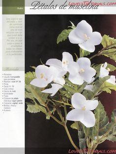 Gumpaste (fondant, polymer clay) Arabis (rockcress) flower making tutorial