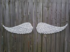 Wooden Carved Angel Wings in Brooke Over 4ft wide by HeatherMBC, $70.00