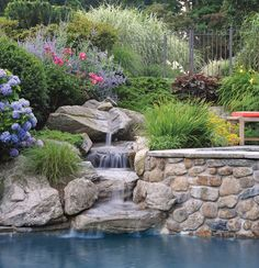 Rock Waterfall Fountains: Add Greenery and Color to the Landscape | Serenity Health Blog