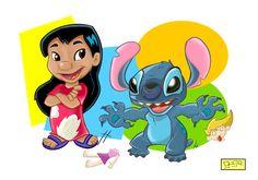 ✶ Lilo & Stitch  by Spiderguga ★
