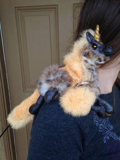 Fantasy Art Woodbaby Unicorn Renaissance Shoulder Puppet