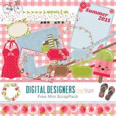 Etsy Digital Designers Team: Freebie Collaboration Pack: June 2015