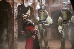 The Doctor and Clara help protect a Viking village from space warriors from the future. Doctor Who Series 9, Doctor Who 12, First Doctor, Space Warriors, Viking Village, Steven Moffat, Bbc One, Episode 5, Dr Who