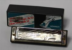 Vintage Hohner American Ice Harmonica in Orginal Box Musical Instrument