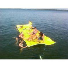 Bullfrog Floating Foam Pad Play Pad, Water Mat, Lake Toys, Floating In Water, Aqua, River, Outdoor Gardens, Coloring Books, Amazon