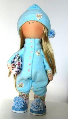 Jenna Doll-Handmade Doll-Fabric Doll-Rag Doll-Textile Doll-Handmade Doll-Home…