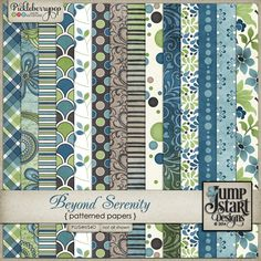 Beyond Serenity ~ Patterned Papers by Jumpstart Designs