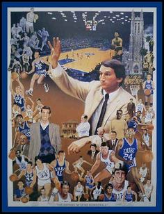 Duke Basketball Print