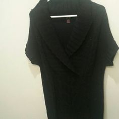Black cable knit sweater Pre loved black cable knit sweater. Can be worn as a dress or paired with leggings as a tunic. Comes about mid thigh on me and I'm 5'3. Sweaters