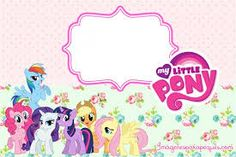 Resultado de imagen para imagenes de invitaciones de my little pony