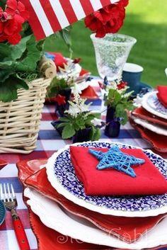Patriotic tablescape.