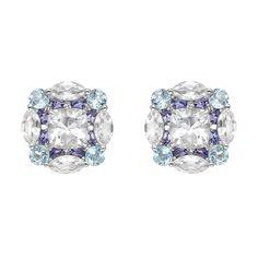 """Seaman Schepps Multicolored Gemstone """"Mosaic"""" Earrings"""