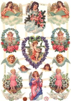 If you don't find the scrap you are looking for, or if it is sold out, drop us a line and we will see what we can do. A wonderful addition to add to a collection, for use on card making, scrap booking or decoupage! Victorian Angels, Victorian Christmas, Vintage Christmas, Decoupage Vintage, Vintage Paper, Chihiro Y Haku, Vintage Tags, Christmas Angels, Paper Dolls
