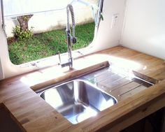 airstream reno - kitchen counters - perhaps with scraps from my house remodel.