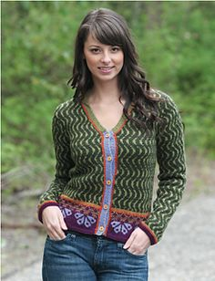 This lovely Fair Isle cropped sweater requires 14 skeins of 5 different colors of Cascade 220 Sport for size 44. Free pattern contains color charts. Pattern is available in PDF format at