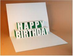 pop up card happy birthday diy