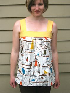 This is cute. I think I could do this once I figure out how to work my sewing machine. :)