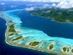 Photo aérienne de : Tahaa - Polynésie-Française (987)
