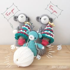 Busy busy busy! Making the Christmas editions aidieamigurumi Christmas fun#amigurumi #amigurumibears #aidieandjellybean