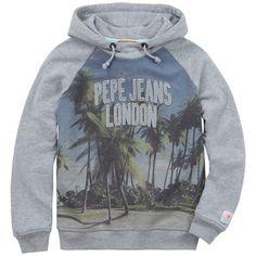 Pepe Jeans - Mottled grey fleece hoodie (143282 - 175919) - 62560