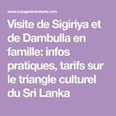 Visite de Sigiriya et de Dambulla en famille: infos pratiques, tarifs sur le triangle culturel du Sri Lanka