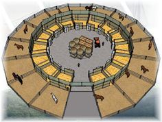If you made it big enough, you could have a round pen in the m. If you made it big enough, you could have a round pen in the middle. – Noiseless Self-confidence Dream Barn, Dream Stables, Barn Layout, Horse Farm Layout, Horse Barn Designs, Horse Shelter, Animal Shelter, Horse Arena, Horse Barn Plans