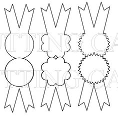 Free printable rosette ribbons. Would make great invites for a horse themed party.