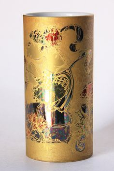 A rare porcelain hand painted golden vase (Scheherazade collection) by Bjørn Wiinblad for Rosenthal, Studio Linie. Collectors item. Great piece of Wiinblads art.  c1970s  Amazing as a wedding gift!  Condition: excellent  Material: gold motif in different shades of gold, white interior  9.2cm D x 18.5cm H or 3.6 D x 7.3 H  We ship internationally! Please contact us if you are interested in combining an order (Which is more affordable)  **Kindly refer to our shop policy before purchasing any…
