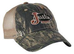 Justin® Men's Mossy Oak Mesh Back Cap::Men's::Cowboy Hats::Fort Western Online