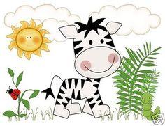 Zebra Mural De Pared calcomanías bebé niño preescolar Cuarto De Niños Jungle Zoo pegatinas Arte Decoración
