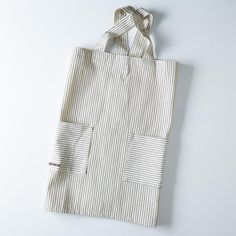 "Green Ticking Pinafore Apron on Provisions by Food52. Size: 38"" x 28"""